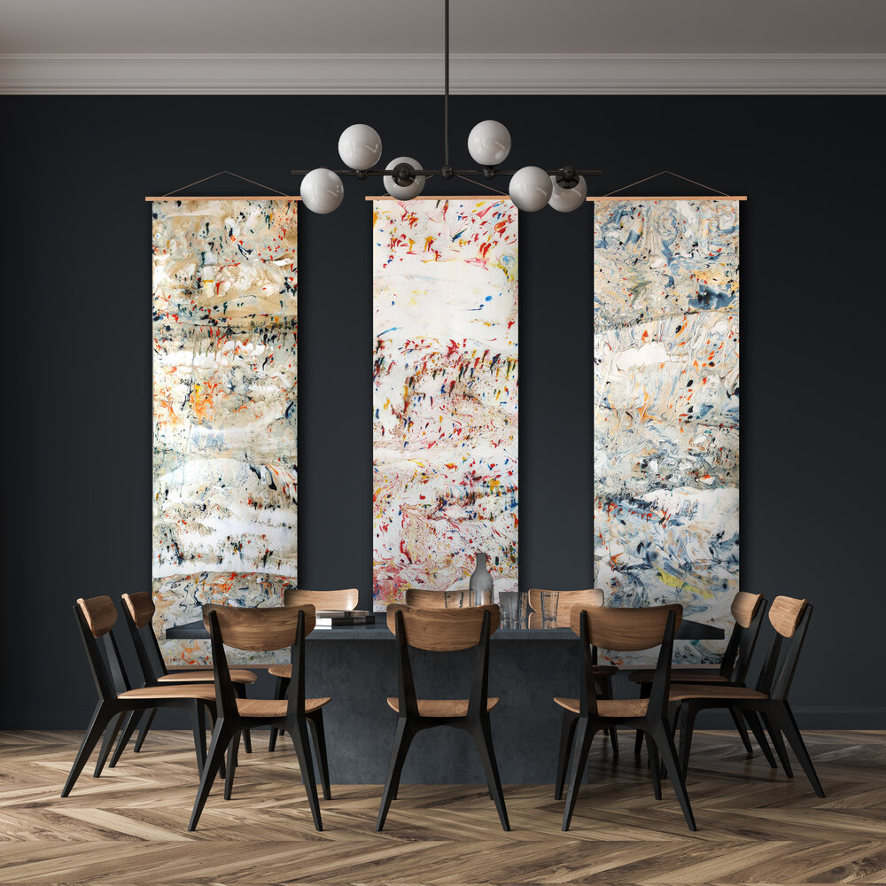 Nat Maks Dining room mural statement wallpaper