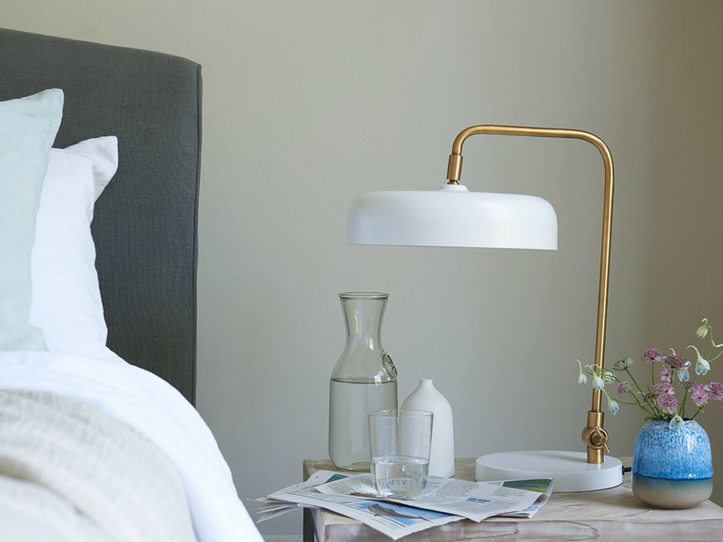 Biblio table lamp in white from Loafdotcom