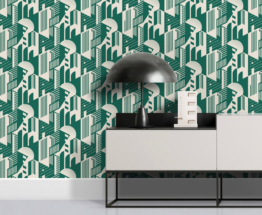 Bauhaus statement wallpaper from Mini Moderns