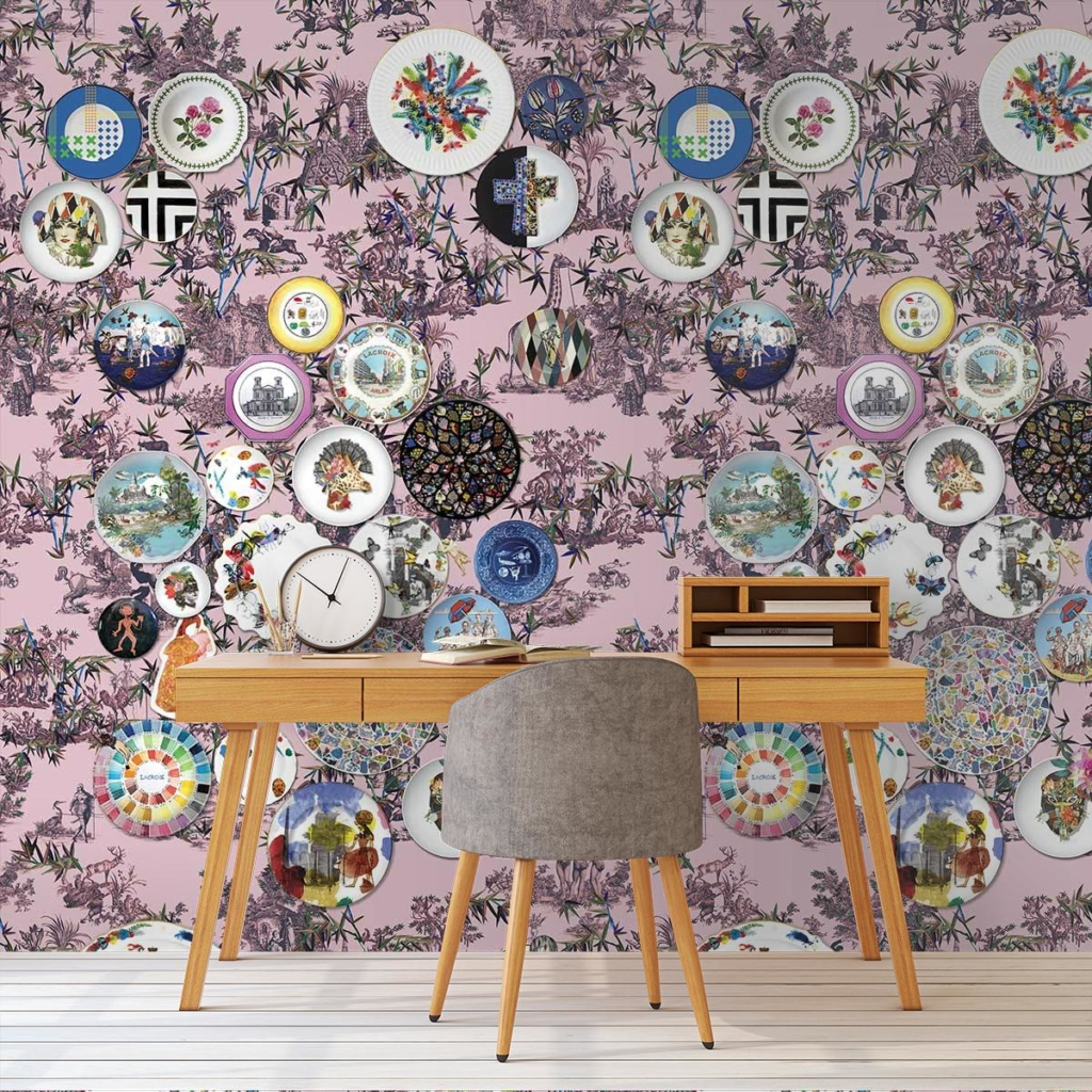 panneau-folie-myrtille-christian-lacroix statement wallpaper from Designers Guild
