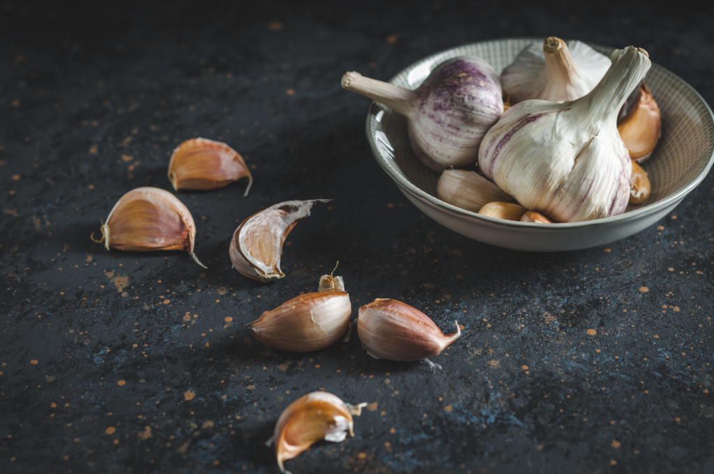 Aromaric garlic which is good as an immune system booster